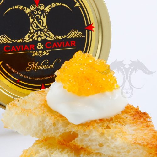 Golden Whitefish Caviar on Toast