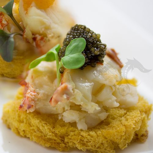 paddlefish caviar lobster salad brioche recipe gourmet food