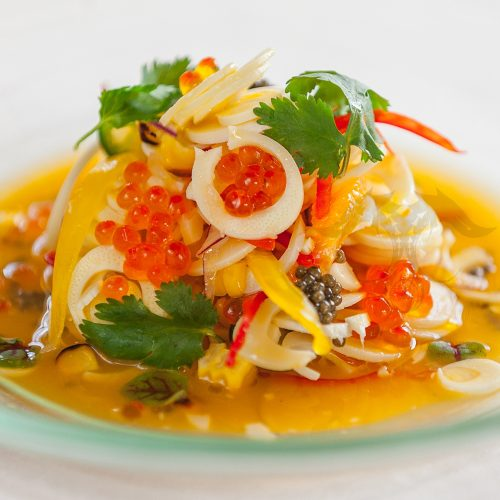 salmon caviar pasta recipe