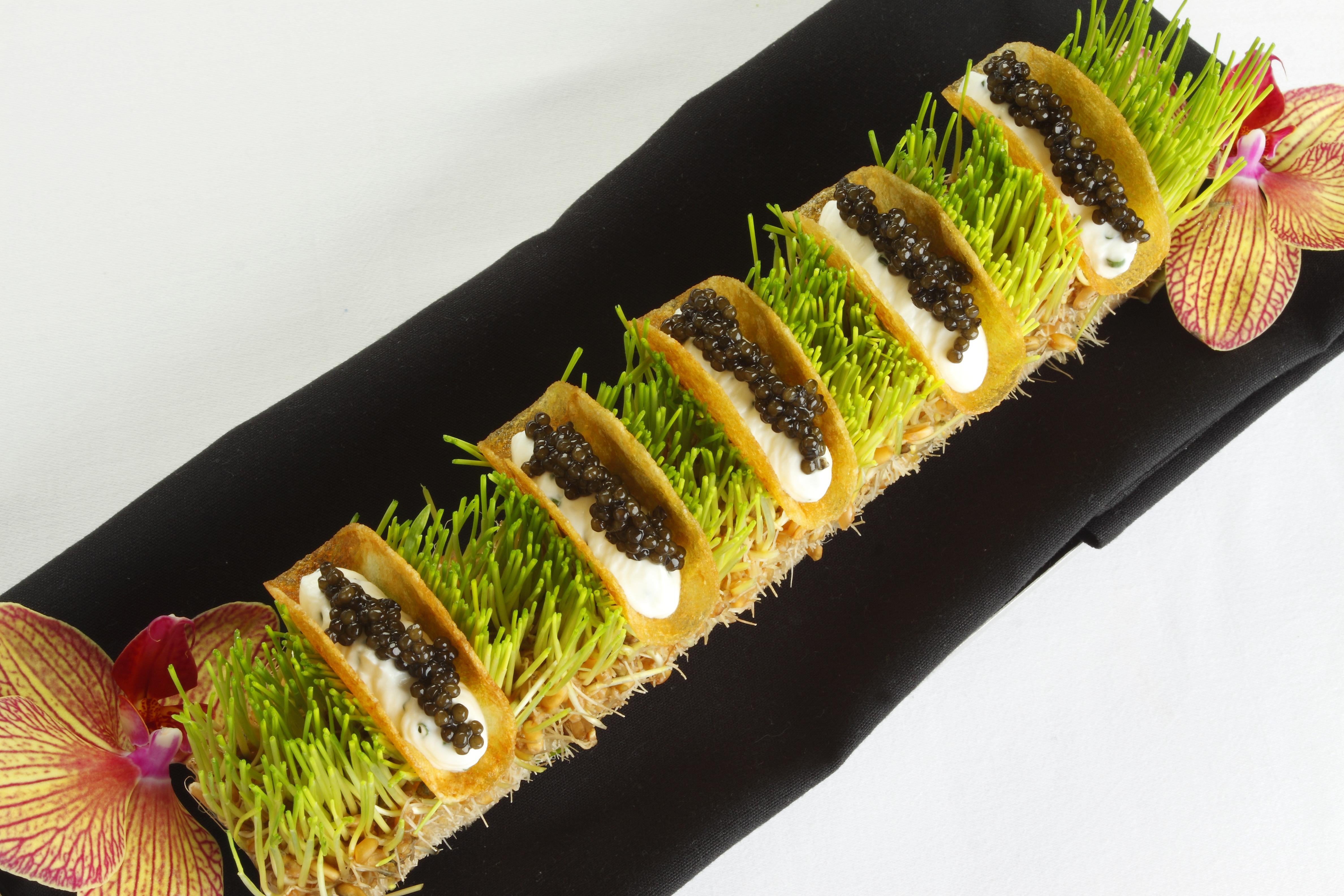 Sasanian caviar tacos