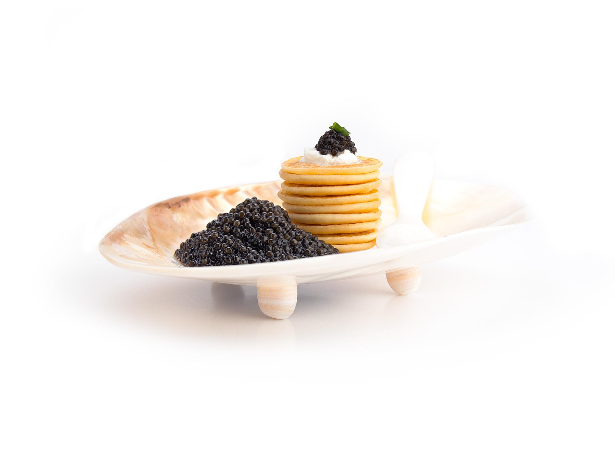 Caviar Dish Black