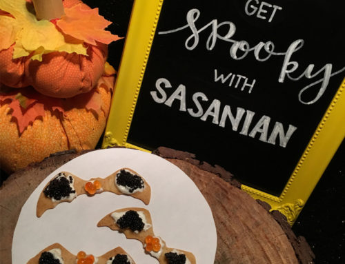 Recipe: Halloween Caviar Crackers